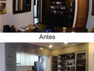 Integração entre cozinha e sala Salas de jantar modernas por Rafael Castro Arquitetura Moderno