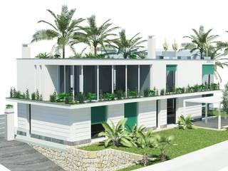 Fabbricato residenziale unifamiliare: Case in stile  di Fabrizio Alborno Studio di Architettura ALBORNO\GRILZ