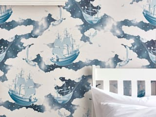 FISHING FOR STARS Midnight Wallpaper 10m Roll Hevensent HouseholdAccessories & decoration