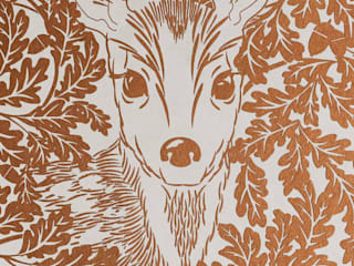 FOREST Copper Rust Metallic Screen Print Wallpaper 10m Roll Hevensent CasaAccessori & Decorazioni