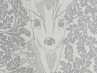 FOREST Dust Dove Grey Wallpaper 10m Roll Hevensent CasaAccessori & Decorazioni