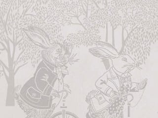 Racing Rabbits Border Wallpaper 10m Roll Hevensent HouseholdAccessories & decoration