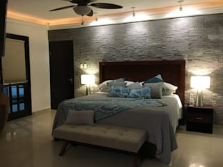Spazio3Design Modern style bedroom Stone Grey