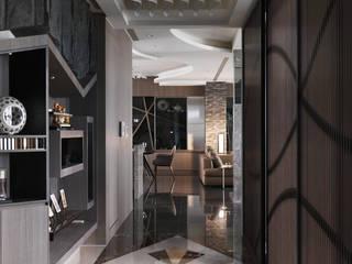 Corridor & hallway by 拾雅客空間設計,