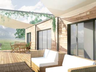 Projekty,  Taras zaprojektowane przez Belle Ville Atelier d'Architecture