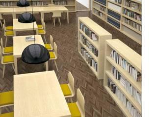 PROYECTOS E INTSLACIONES : Salas multimedia de estilo  de Muebles Nogal Yecla, S.L.