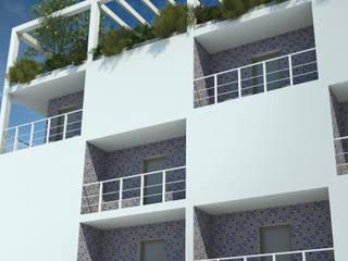 Residenza Br/Rh Balcone, Veranda & Terrazza in stile minimalista di Archimeccanica Minimalista