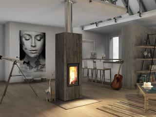 CB stone-tec GmbH Livings modernos: Ideas, imágenes y decoración Piedra
