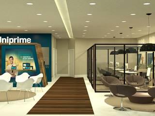 Uniprime Espaços comerciais modernos por Angelica Hoffmann Arquitetura e Interiores Moderno