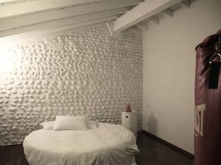 Casa H Camera da letto minimalista di L. Samuele Rubagotti Architetto Minimalista