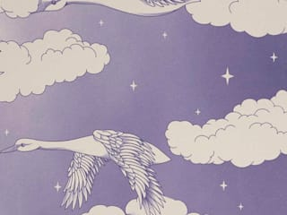 SWANS Lavender Wallpaper 10m Roll Hevensent HouseholdAccessories & decoration