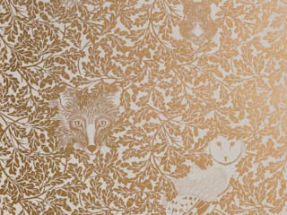 FOREST Midas Gold Screen Print Wallpaper 10m Roll Hevensent Klasik
