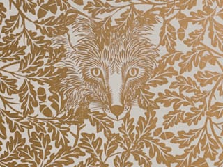 FOREST Midas Gold Screen Print Wallpaper 10m Roll Hevensent HogarAccesorios y decoración