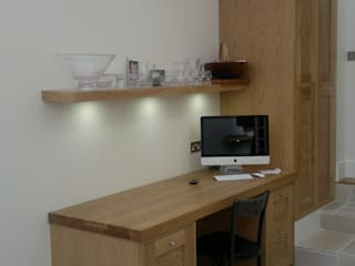 Hand made kitchen Modern study/office by Greengage Interiors Modern