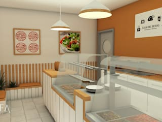 Restaurante Take Away Espaços de restauração escandinavos por AUREAinteriores Escandinavo