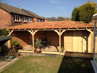 Gazebo & Garden Storage Miniature Manors Ltd Classic style balcony, veranda & terrace Wood