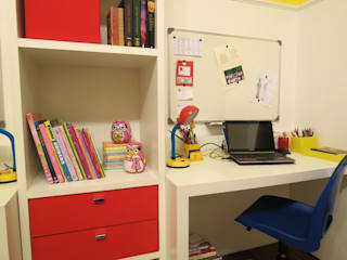 Sala de estudos infantil: Escritórios  por Paula  Makdissi arquitetura e interiores