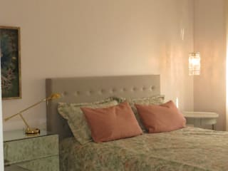 Apartamento casal: Quartos  por Paula  Makdissi arquitetura e interiores