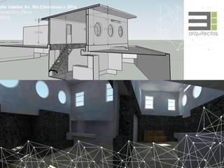 Remodelación, Ampliación y Adecuación. Jardines modernos de TRES arquitectos Moderno