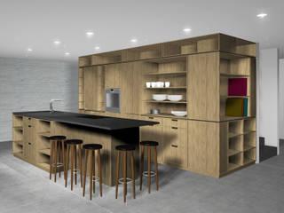 Küchensystem SW 30 Kiefer Moderne Küchen von SW Retail+Interior Design Modern