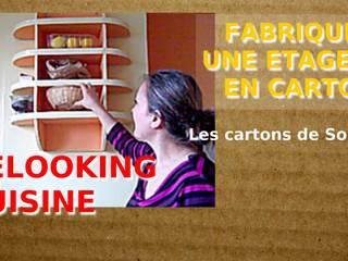 ETAGERE MURALE EN CARTON: Cuisine de style  par Les cARTons de Sophie