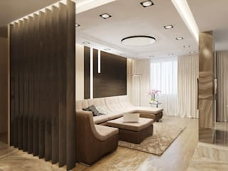 Александра Петропавловская Living room Wood Beige