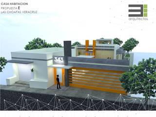 Casa Habitación Las Choapas Veracruz P-E Casas modernas de TRES arquitectos Moderno