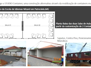 Ampliação Comercial utilizando Containers: Salas multimídia  por Gustavo Bomfim ARQUITETURA E URBANISMO