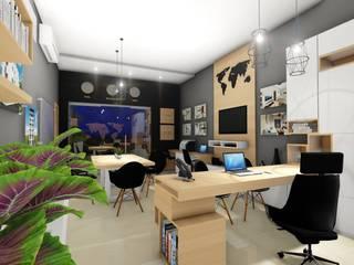 OFICINA - DESARROLLO INMOBILIARIO : Oficinas y Tiendas de estilo  por DIKTURE Arquitectura + Diseño Interior, Moderno