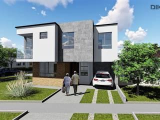 DISEÑO FACHADA: Casas de estilo  por DIKTURE Arquitectura + Diseño Interior, Moderno