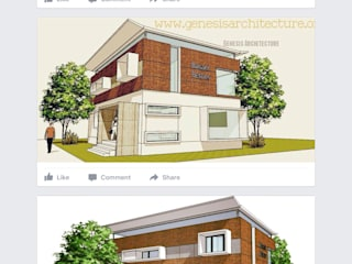 Admin Office :  Houses by GENESIS ARCHITECTURE