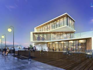Plaza Comercial - Puerto Peñasco: Centros Comerciales de estilo  por Unikco Arquitectos
