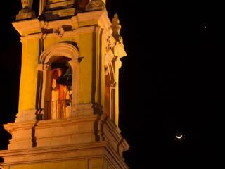 Parroquia de San Miguel, torre campanario.:  de estilo  por Icaro Studio