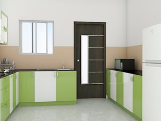 Modular Kitchen without Loft:  Kitchen by ServiceBELL Solutions PVT Ltd