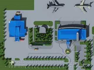 Аэропорт Владикавказ. Международный терминал: Аэропорты и морские порты в . Автор – Мастерская архитектора Аликова