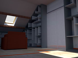 Création d'une bibliothèque sur mesure par Emilie Granato Architecture d'intérieur