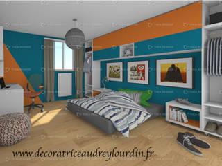 RELOOKING CHAMBRE D'ADOLESCENT par Audrey lourdin decoratrice d intérieur Moderne