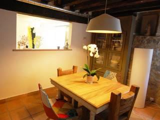 Habitaka diseño y decoración Rustic style dining room Wood