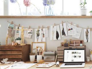 GN İÇ MİMARLIK OFİSİ – moda atölyesi: modern tarz Çalışma Odası