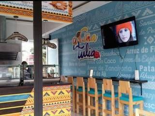 diseño restaurante de Dies diseño de espacios Tropical