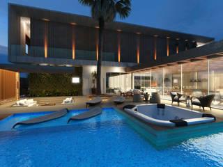 Projeto Residência Moderna: Casas  por Fabiano Hayasaki Arquitetura, Interiores e Urbanismo ltda,Moderno