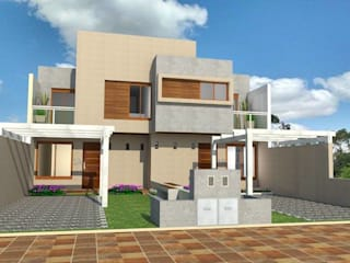 Fachada principal: Casas de estilo  por Estudio ACC