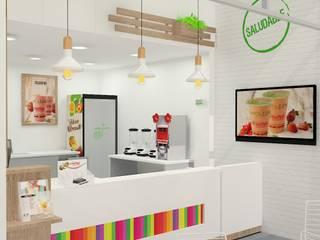 Diseño tiendas Cosechas epress de Dies diseño de espacios Minimalista