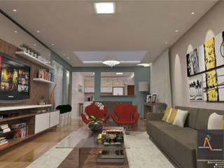 Salas / recibidores de estilo  por Ao Cubo Arquitetura e Interiores,