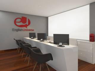 RAFE Arquitetura e Design Scuole moderne MDF Grigio