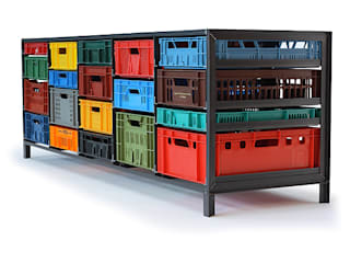 Crates Cabinet by Mark van der Gronden: modern  by NLstudio, Modern