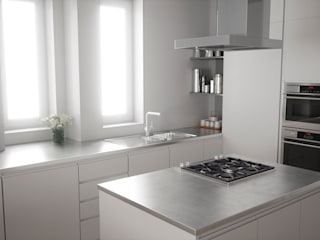 Apartamento nordico / Cozy, fresh and nordic apartment: Cocinas de estilo  de Arrin.