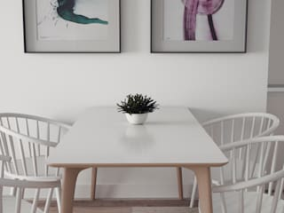 Apartamento nordico / Cozy, fresh and nordic apartment: Comedores de estilo  de Arrin.