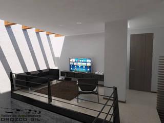 CASA LOPEZ-CADENA: Pasillos y recibidores de estilo  por OROZCO GIL TALLER DE ARQUITECTURA