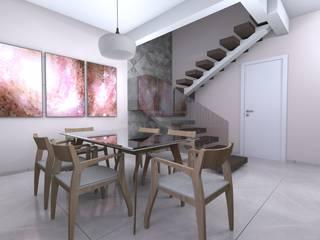 Projeto de um Sobrado Residencial Jardim Isabela: Salas de jantar  por RVA Arquitetura,Eclético